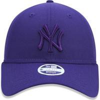 Boné New Era 920 Strapback New York Yankees Roxo