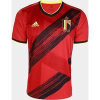 Camisa Seleção Bélgica Home 20/21 Torcedor S/Nº Adidas Masculina - Masculino