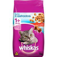 Ração Para Gatos Whiskas Gatos Castrados 1+ Anos Sabor Carne 1Kg
