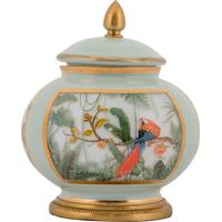 Vaso Decorativo De Cristal E Bronze Iii - Linha Botanique