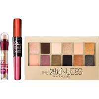 Maybelline Kit - Instant Age Eraser Honey + The 24K Nudes Palette + Falsies Push Up Drama Kit - Feminino-Incolor