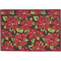 Tapete Floral- Vermelho & Verde- 68X45Cm- Mabrukmabruk