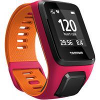 Monitor Cardíaco Com Gps Tomtom Runner 3 - Rosa/Laranja