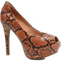 Sapato Feminino Zariff Peep Toe Salto Fino