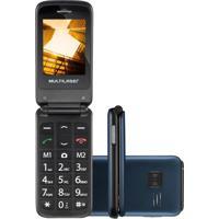 Celular Multilaser Flip Vita Dual Chip Mp3 Desbloqueado Azul P9020