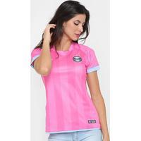 Camisa Grêmio Outubro Rosa 17/18 S/N° Umbro Feminina - Feminino