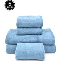 Jogo De Banho 5Pçs Karsten Gigante Cotton Class Azul