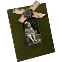 Porta-Retrato De Madeira Leslie Decorativo Com Detalhe De Metal