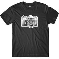 Camiseta Skill Head Câmera Fotográfica Preto