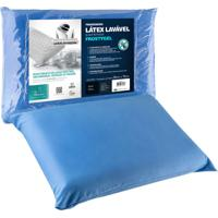 Travesseiro Fibrasca Latex Sintético Frostygel 50X70Cm Azul