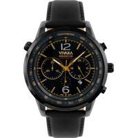 b26ec963c83 Relógio Vivara Masculino Couro Preto - Ds13700R0E-2