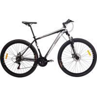 Bicicleta Mobele Mtb Aro 29 21V Alumínio Quadro 17 Câmbio Shimano Rhino Branca