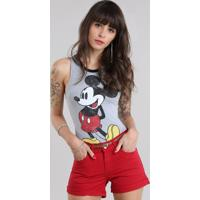 Body Mickey Cinza Mescla