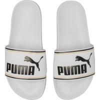 Chinelo Puma Leadcat Ftr Masculino - Branco/Preto