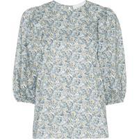 Les Reveries Blusa Com Estampa Floral - Libeerty Chive