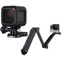 Câmera Digital E Filmadora Gopro Hero5 Session Chdhs-501 Preta + Suporte 3 Formas Gopro Afaem-001 Para Câmeras Hero