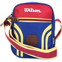 Bolsa Wilson Shoulder Bag Retrô - Unissex-Vermelho+Azul