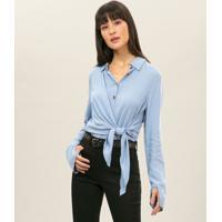 Camisa Manga Longa Amarração Azul Tide - Lez A Lez