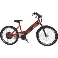 Bicicleta Elétrica Duos 800W 48V 15Ah Sport Cor Cereja