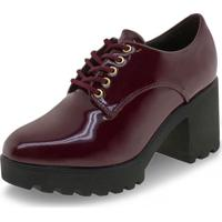 Sapato Feminino Oxford Vizzano - 1294100 Vinho 38