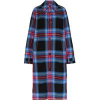 Charles Jeffrey Loverboy Trench Coat Xadrez - Azul