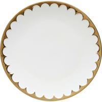 Jogo 6 Pratos De Jantar De Porcelana Egg 27 Cm - Unissex