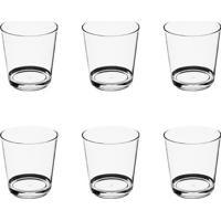 Conjunto 6 Copos Água Acrílico Cristal 255Ml