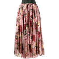 Dolce & Gabbana Saia Com Estampa Floral - Rosa