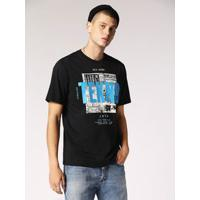 Camiseta Diesel T-Just-Wa Preto
