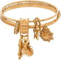 Versace Pulseira Com Pingente De Logo Medusa - Dourado