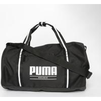 Bolsa Com Inscrição - Preta & Branca - 28X40X18Cmpuma