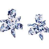 Lele Sadoughi Par De Brincos Lily - Azul