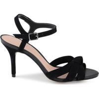 Sandalia Tiras No Leather Feminina - Feminino