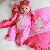 Saída De Maternidade Sônia Enxovais Menina Luxo Coelhinha Pink