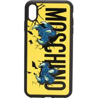 Moschino Capa Para Iphone Xs Max Com Logo - Preto