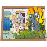 Quebra-Cabeça Com Pinos Modelo Ratos Com 12 Pecas - Jottplay - Kanui
