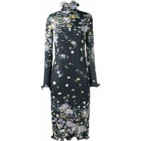 Givenchy Vestido Midi Com Estampa Floral - Azul