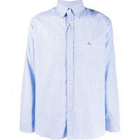 Etro Check Button-Down Shirt - Azul
