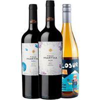 Vinho Tinto Finca Martha Merlot 2020 + Vinho Tinto Finca Martha Malbec 2020 + Vinho Branco Filosur Chardonnay