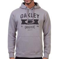 Blusa Canguru Oakley Varsity Masculino - Masculino-Cinza Claro