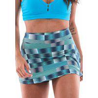 Shorts Saia Body Angel Shorts Saia Estampado Licor De Menta