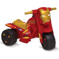 Moto Homem De Ferro Elétrica 6V Bandeirante Vermelho