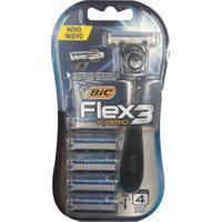 Aparelho De Barbear Bic Flex 3 Hybrid Extra Suave + 5 Cargas