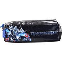 Estojo Escolar Transformers Pacific-933P17 - Feminino-Chumbo