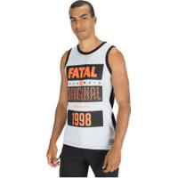 Camiseta Regata Fatal Estampada 23686 - Masculina - Cinza Claro