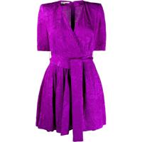Stella Mccartney Floral Jacquard Belted Playsuit - Roxo