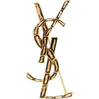 Saint Laurent Broche Ysl Dourado De Metal