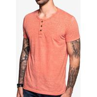Camiseta Henley Laranja 103550