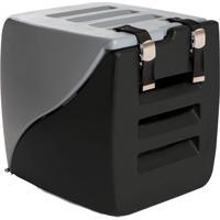 Caixa Transporte 2 Em 1 Happy Box-Charlie Pet - Cinza / Preto