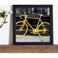 Poster Emoldurado - Yellow Bike